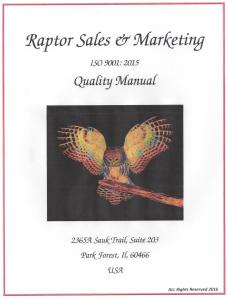 Raptor Sales & Marketing is a fictions company